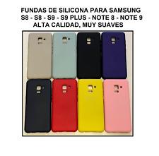 Funda silicona líquida calidad premium Samsung Galaxy S8 S9 S10 Note 8 9 10 Plus