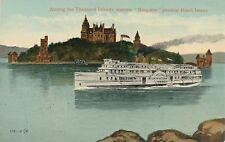 THOUSAND ISLANDS NY – Steamer Kingston Passing Heart Island