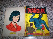 DIABOLIK ANNO VI (SESTO) ORIGINALE N.25 DEL 1967 BUONO......KRIMINAL SATANIK