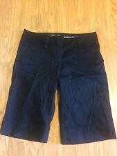 OLD NAVY  Women's Perfect Bermudas Size 4 Black Low Waist Shorts 12 Inch inseam