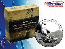 1 OZ  Silber Australia 2013 Australian Kangaroo Proof PP Box CoA