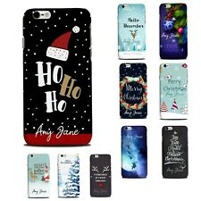Personalised phone case cover for iPhone X Samsung S Xmas theme custom name case