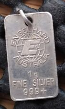 Ultra rare 1 gram bar produced by Engelhard, Australia. Tier 1 rarity!