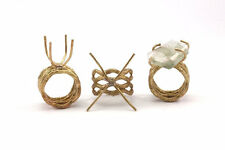 Claw Ring Blank - 2 Raw Brass 4 Claw Ring Blanks for Natural Stones N096