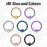 18g Steel Captive Bead Ring BCR Cartilage Ear Piercing Tragus Nipple Lip Hoop