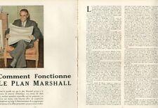Coupure de presse Clipping 1949 Comment fonctionne le Plan Marshall (9 pages)