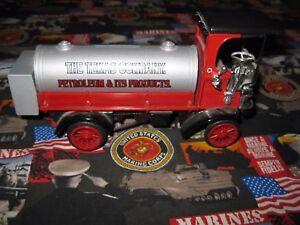 1910 MACK TEXACO Tanker Petroleum Diecast TRUCK BANK THE TEXAS COMPANY
