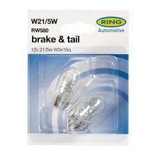 2 x Ring RW580 W21/5W Capless Brake Stop Light Bulb 580 380W 12v 21/5w