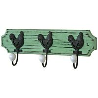 Green Wall Mounted Coat Hens Hooks 3 Ceramic by Originals