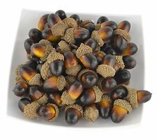Fake Fruit Artificial Nutty brown Acorns for Home Kitchen Party Decoration 60Pcs