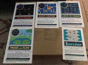 Lot 5 M Network Mattel Electronics Atari 2600 instructions only