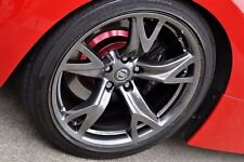Nissan 370Z Front & Rear Wheel Hub Color Cover Set 4pc for OEM Brake Disc Rotor