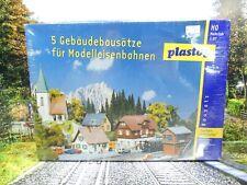 Plastoy - H0 - 5 Gebäudebausätze - Dorfset FROHNLEITEN - OVP - #9758