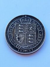 More details for 1887 queen victoria one shilling uk silver coin, high grade, sterling silver..