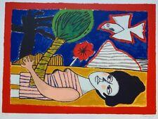 Guillaume Corneille (1922-2010) Grande Lithographie  La Femme au palmier EA 1992