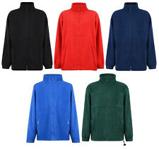 KIDS FULL ZIP FLEECE JACKET BOYS GIRLS 2-13 YEARS SCHOOL COAT 5 COLOURS NEW