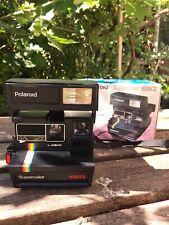 Negro/Plata Vintage Retro de películas instantáneas Polaroid 635 Supercolor Bolsa de Cámara y