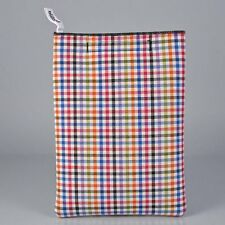 IPad/IPad2 Pijama Soft Shell Cotton Sleeve - Vichy Blue Multicolor