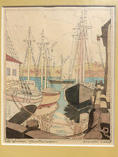 Coulton Waugh (1896-1973) Watercolor on Paper Safe Afternoon Gloucester Harbor