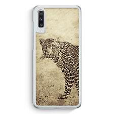 Vintage Leopard Samsung Galaxy A70 Hülle Motiv Design Tiere Schön Cover Hardc...