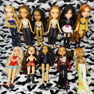Bratz Doll Lot Of 11 Dolls Dressed Live In Concert Hair Magic Ooh La La Etc