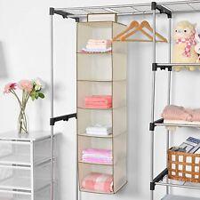 6 Shelf Hanging Wardrobe Storage Unit Sweater Organiser