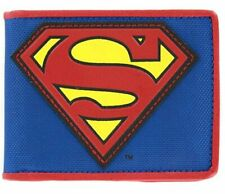DC Superman Logo Blue & Red Leather Bi-Fold Wallet