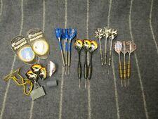 Misc Lot 12 Darts - (4 sets) Tips, Barrels, Shafts, Flights New Unicorn Flights