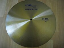 "20"" Blue Label Paiste Formula 602 Medium Flat Ride Cymbal 2360g"