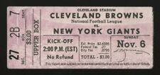 1955 NEW YORK GIANTS AT CLEVELAND BROWNS TICKET STUB WORLD CHAMPIONS