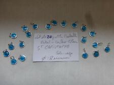 PROMO lot de 20 medailles en couleur BLEU Saint CHRISTOPHE   8 mm   COLOR MEDALS