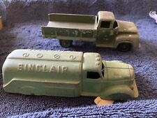 Lot Of 2 Vintage Antique Tootsietoy Chicago Diecast Cars Pickup Truck Sinclair