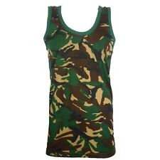 MENS CAMOUFLAGE VEST SLEEVELESS MUSCLE TOP MILITARY JUNGLE COMBAT ARMY GYM SHIRT