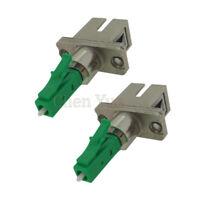 2pcs LC APC Male to SC Female Fiber Optic Adapter LC-SC Hybrid Optical Adaptor