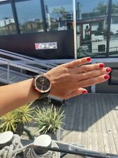 Garmin vivomove HR híbrido Sport Reloj inteligente Negro y Oro Espuma De Mar Banda De Silicona