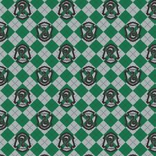 Harry Potter Flannel, Fabric By The Yard, Green Argyle Slytherin, TheFabricEdge