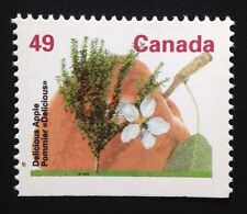 Canada #1364cs Bottom HP 13.1 MNH, Delicious Apple Tree Booklet Stamp 1994