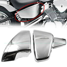 L/R Battery Side Covers For Honda Shadow VLX 600 VT600C STEED400 Deluxe 1999-200