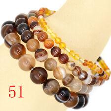 Handmade Natural Gemstone Round Beads Stretch Loose Beads 4mm 6mm 8mm 10mm