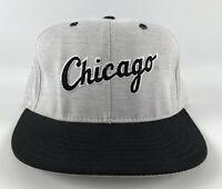 Chicago White Sox Pro Line Pro Model Baseball Hat - Gray Black Script Size 7 USA