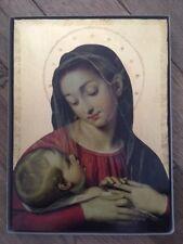ICONA SACRA - Madonna con bambino - Oro su legno (38 x 28 cm.)
