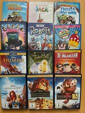DVD Paket Kinder, 12 Filme, DVDs, Kinderfilme, Animationsfilme, Guter Zustand