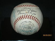 Los Angeles Dodgers 1969 Team Signed Official National League Warren Giles Ball