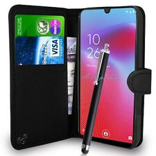 Black Wallet Case PU Leather Book Cover For Vodafone Smart V10 Mobile Phone
