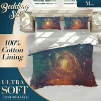 Gorgeous Galaxy Nature Space Colourful Quilt Cover Doona Duvet Cover w 2 Shams