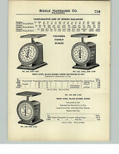 1910 PAPER AD Tea Candy Counter Scale Clover Leaf Columbia Family Kitchen