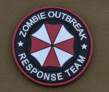 """PVC / Rubber Patch """"Zombie Outbreak Umbrella"""" with VELCRO® brand hook"""