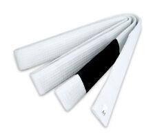 """New Bjj 1.5""""W Brazilian Jiu Jitsu Belts 100% Cotton Material Durable, White"""