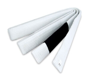 "New BJJ 1.5""W  Brazilian Jiu Jitsu Belts 100% Cotton  Material Durable, White"