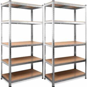 Set de 2 Estanterias Metalicas Galvanizadas 875kg 5 Baldas (2 unidades)
